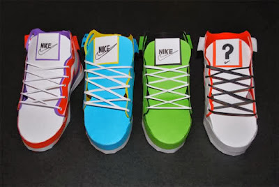 nike air paper different colours