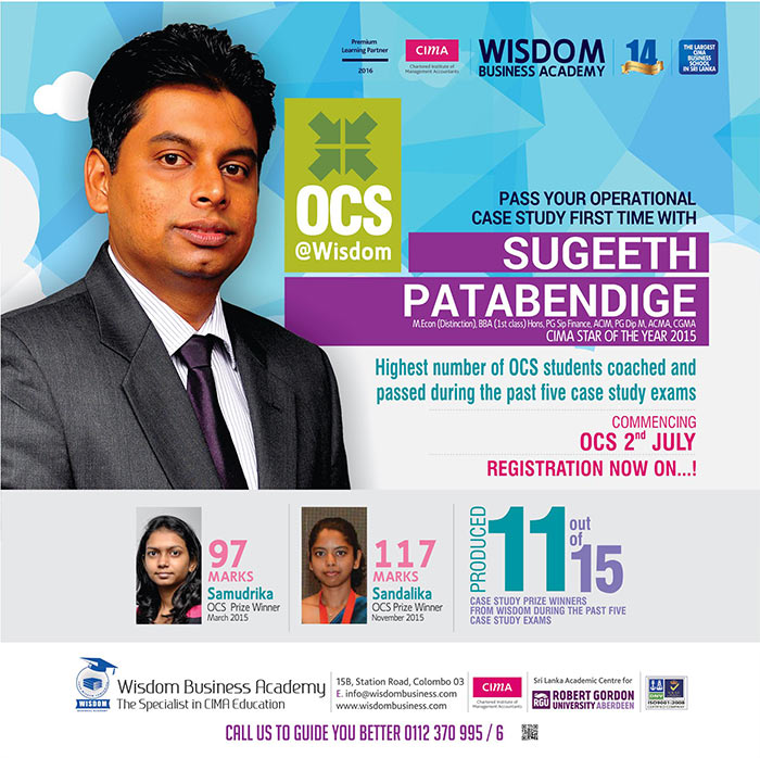 Pass OCS first time with Sugeeth @ Wisdom - Registration Now On.