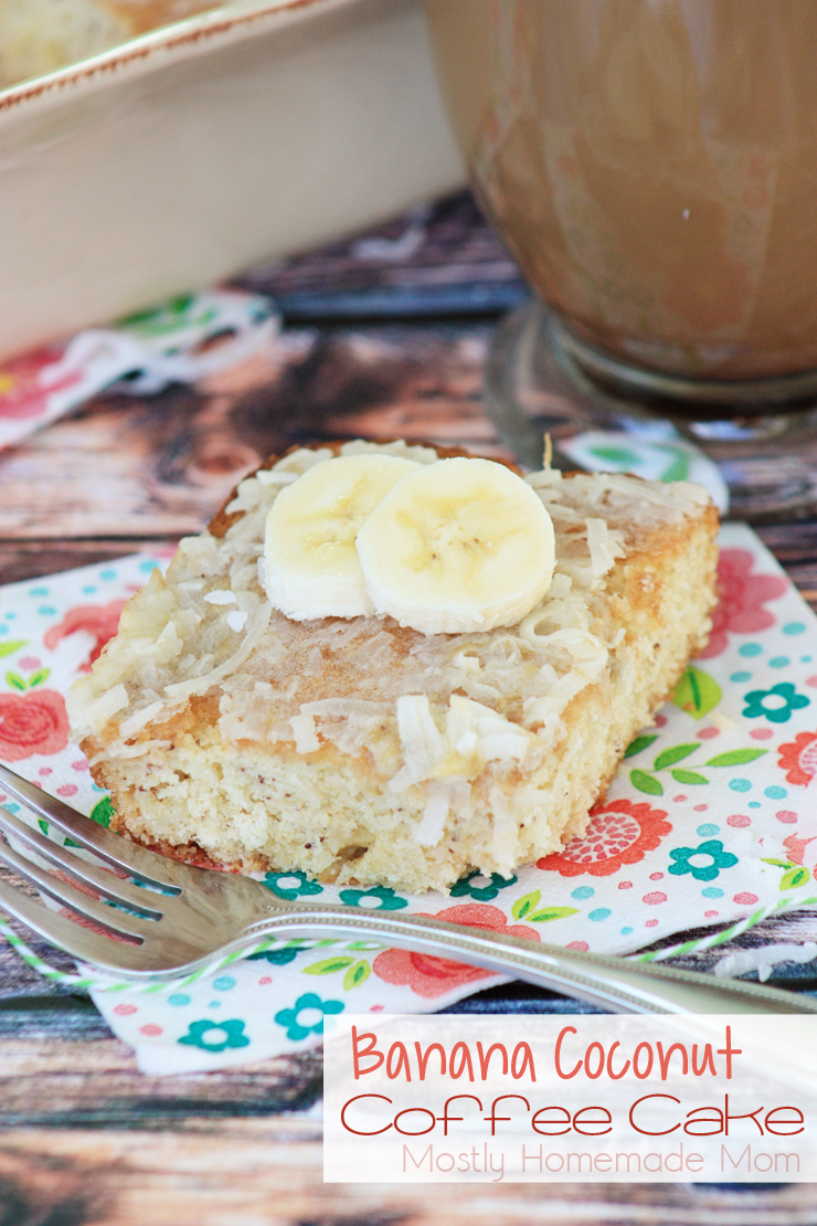 Banana Coconut Coffee Cake
