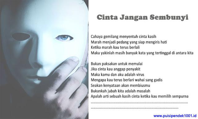 Puisi Cinta Jangan Sembunyi