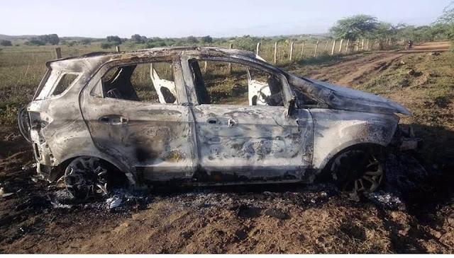 Veículos que teriam sido utilizados no assalto às agências bancárias de Pão de Açúcar/AL são abandonados em estrada vicinal