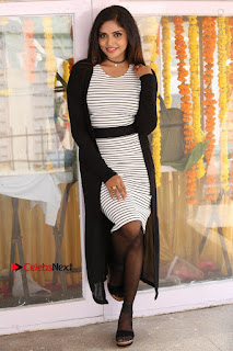 Telugu Actress Karunya Chowdary Stills in Black Dress at Soda Goli Soda Movie Opening  0153.JPG