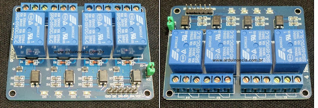 Módulo relé 4 canais Arduino