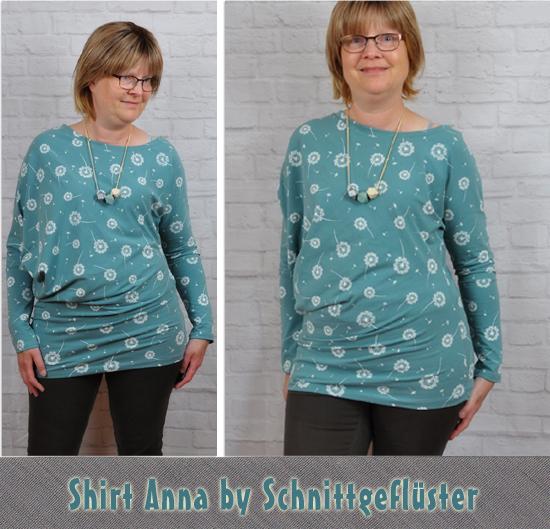 Shirt Kleid Anna by Schnittgeflüster