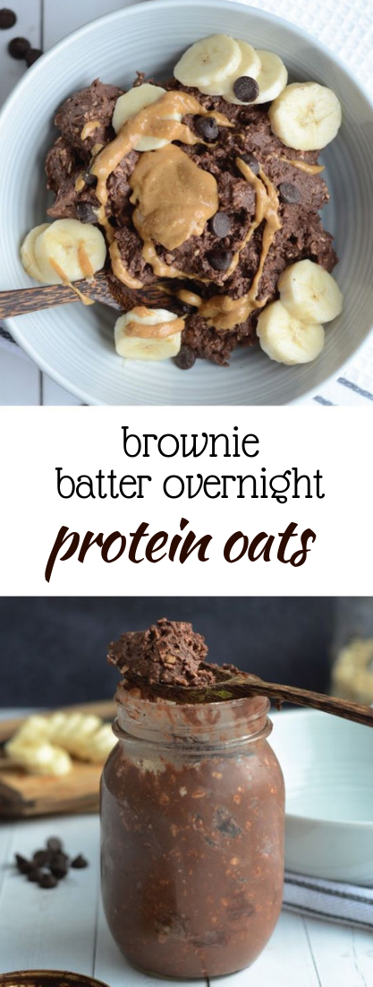 brownie batter overnight protein oats #Healthy #oatsrecipe