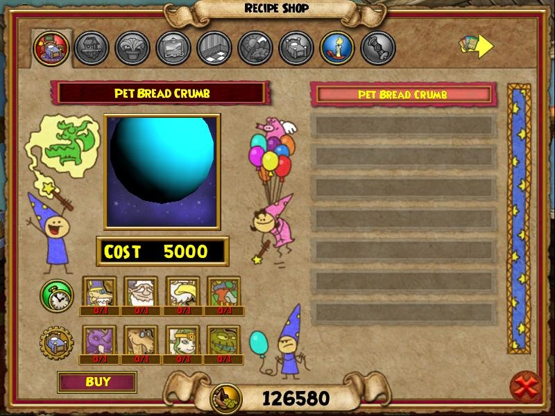 Paige's Page: Bread Crumbs - Wizard101