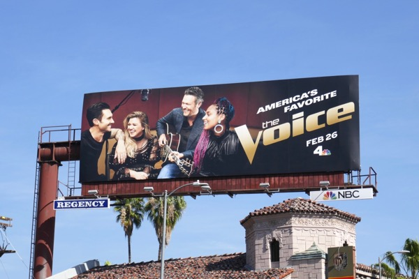 Voice season 14 NBC billboard