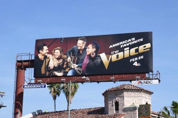 Voice season 14 NBC billboard