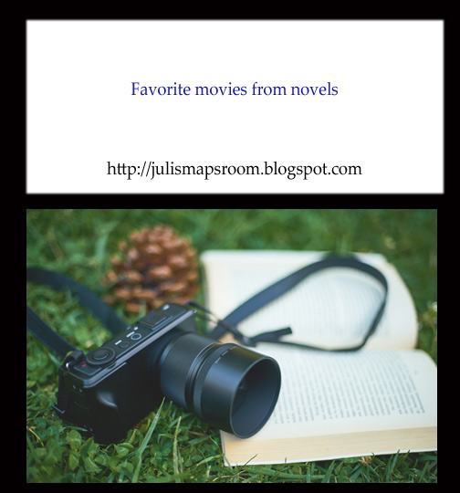 movies inspired by books, movies from novels banner