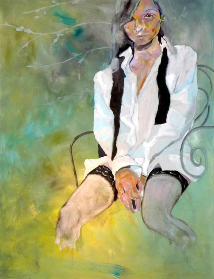 Портреты акрилом. Tina Welz