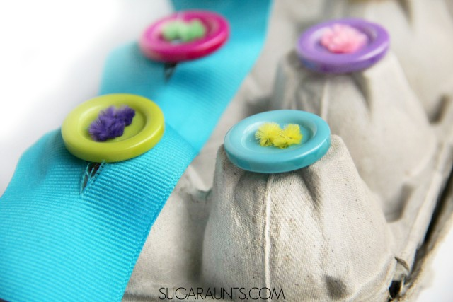 Teach Kids How To Button With This Cute Egg Carton Buttoning Activity Is Fun