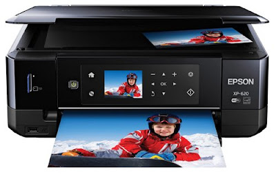 Wireless Color Photo Printer amongst Scanner too Copier Epson Expression Premium XP-620 Driver Downloads