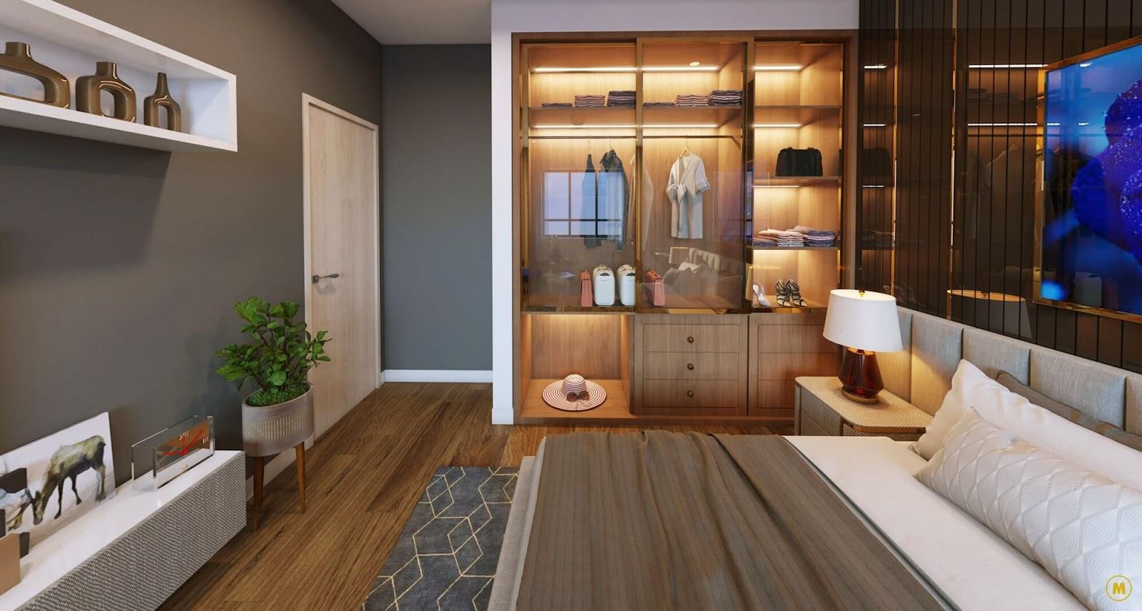 Phòng ngủ sang trọng Dual-key tại Amber Riverside