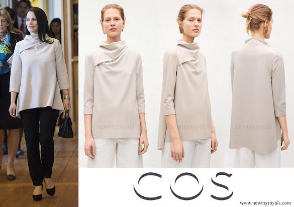 Princess Sofia wore COS Drape Collar A-Line Top