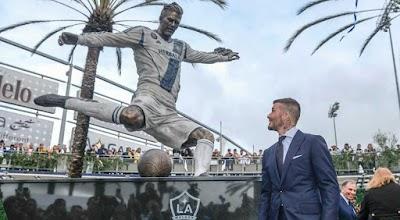 LA Galaxy Unveils Statue Of David Beckam