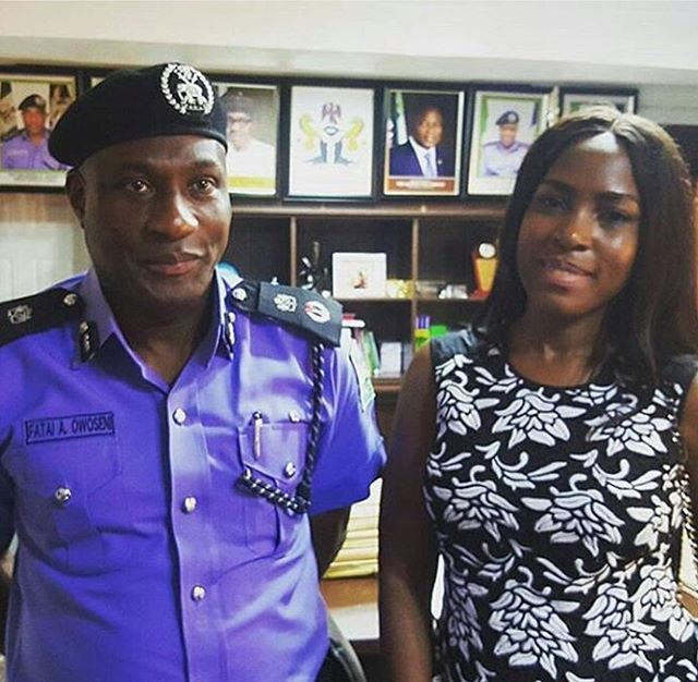 Wizkid and Linda Ikeji meet police commissioner