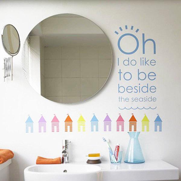 20 Desain Stiker Dinding untuk Kamar Mandi Cantik