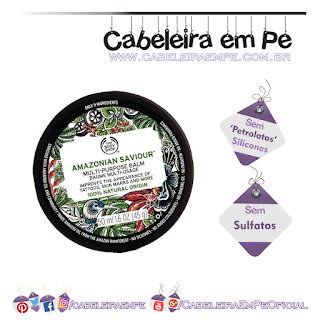 Bálsamo Multifuncional Amazonian Therapy - The Body Shop Sem Petrolatos, Sem Sulfatos e Sem Silicones) - 'No Poo' para a pele