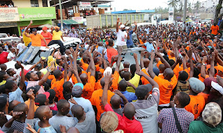 The two governors Amason Kingi and Hassan Joho at Mtwapa for an ODM  rally.