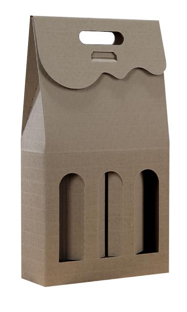 Pudełko kartonowe eko na 3 butelki