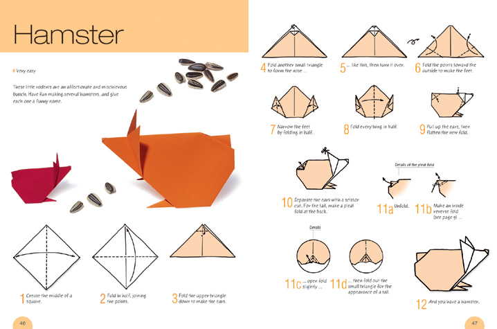Origami Easter Bunny Face