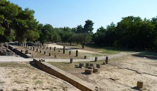 Gimnasio del yacimiento arqueológico de Olimpia.
