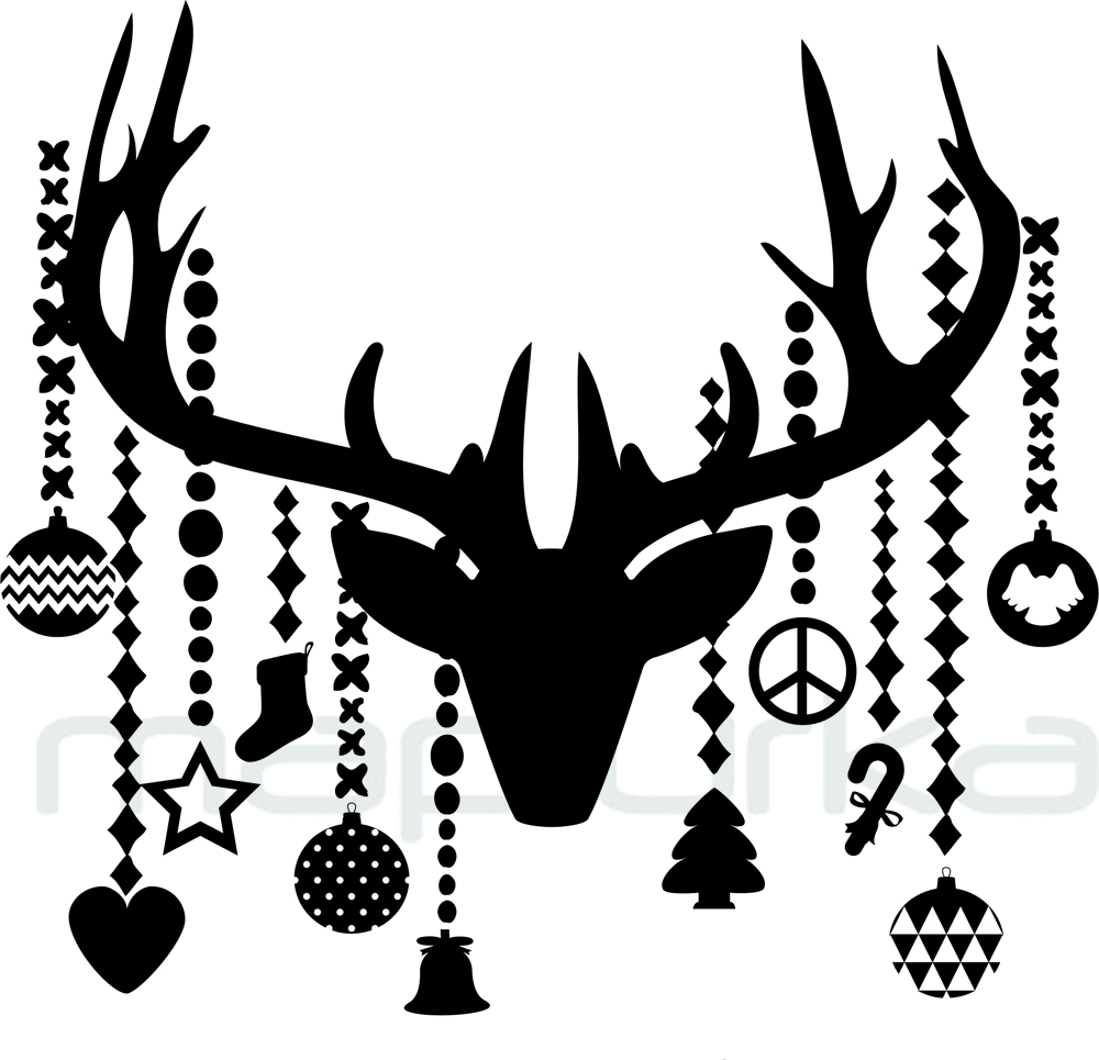 Mapiurka Adhesivos Decorativos BA Renos Navideos Christmas