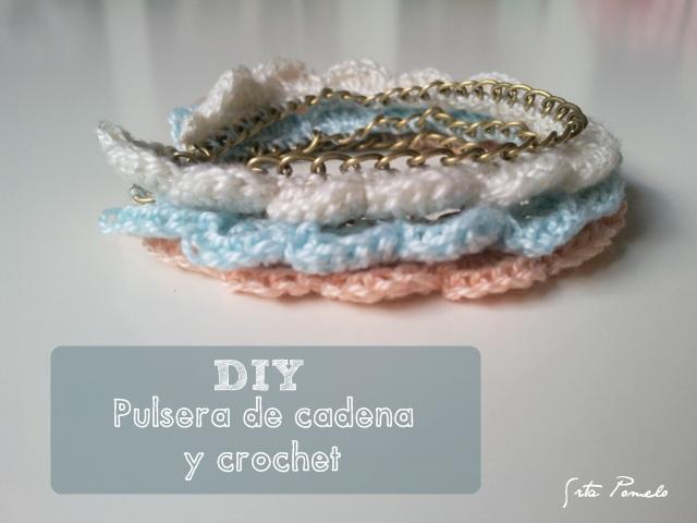 8e0f97d60ac2 Srta Pomelo  DIY  cómo hacer unas pulseras de cadena y crochet.