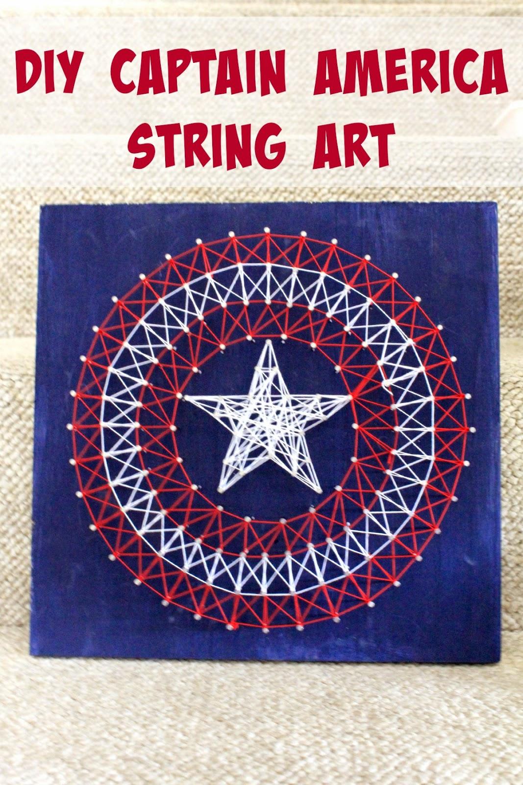 DIY Avengers Captain America String Art  #FandangoFamily #ad