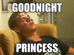Good Night Princess, Funny Good Night Meme, Picture
