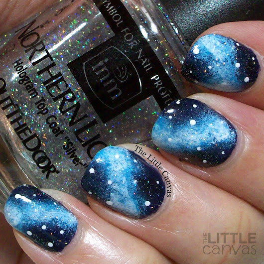 The One With the Blue Galaxy Mani