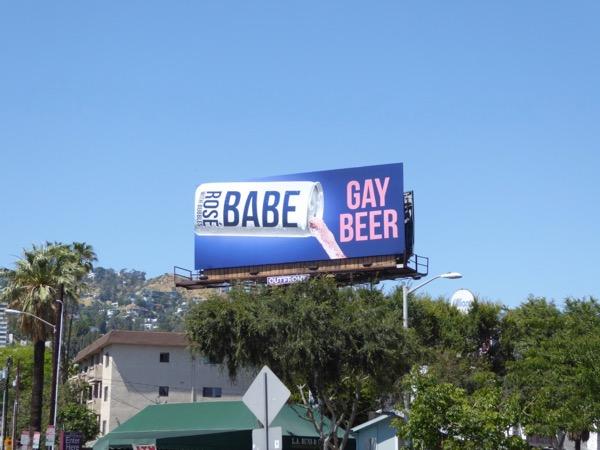 Babe Rosé Gay Beer billboard