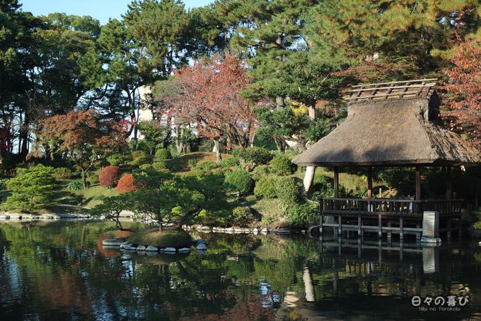pavillon yûyû-tei, jardin shukkei-en, Hiroshima-shi