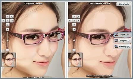 membuat vector wajah online