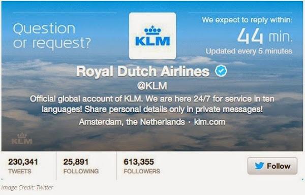 KLM Tweet