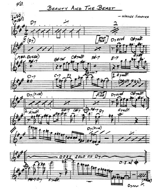 Partitura Saxofón Wayne Shorter
