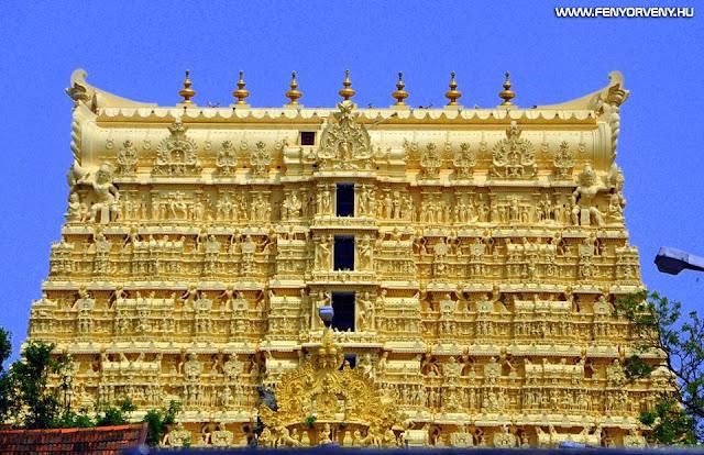Padmanabhaswamy templom rejtélyes hanghullámokkal lezárt ajtaja