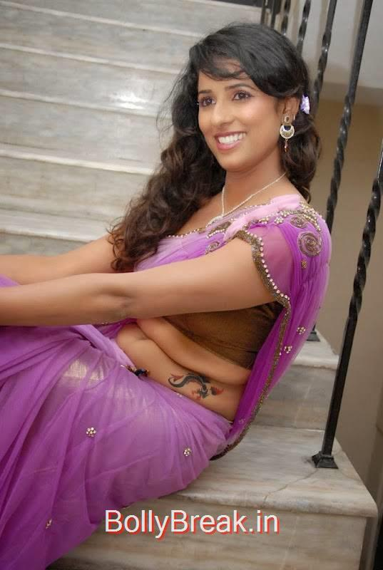 Shravya Reddy images, Sravya Reddy Hot HD Images In Violet Saree