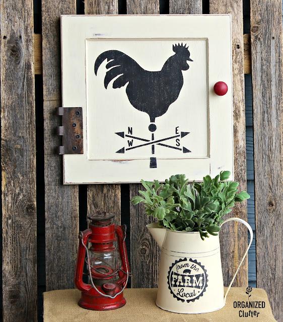 Farmhouse Style Cabinet Decor