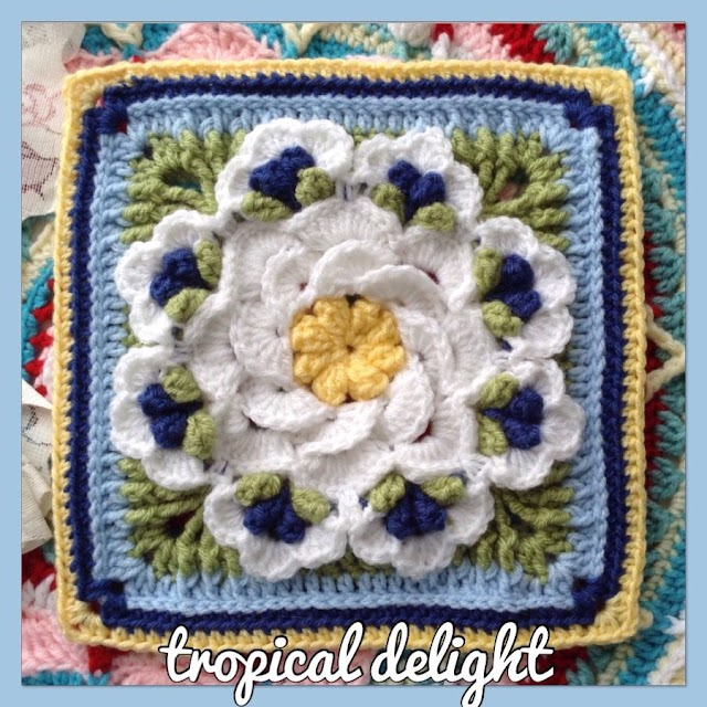 Square Tropical Delight Crochet Pattern Free Step by Step