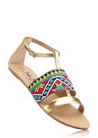 Sandale stil etno cu un design de efect