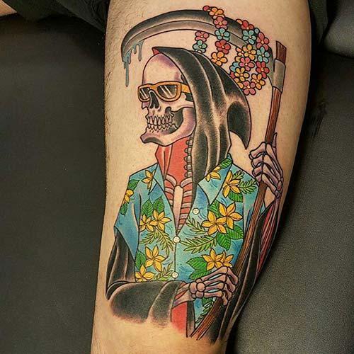 cool grim reaper tattoos azrail dövmeleri