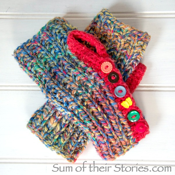 Crochet and Knit Fingerless Gloves