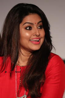 Actress Sneha Latest Stills in Red Dress at Simba Audio Launch  0012.jpg