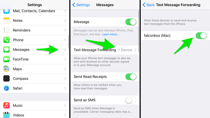 iphone text forwarding not able to send text message to android from iphone 12372