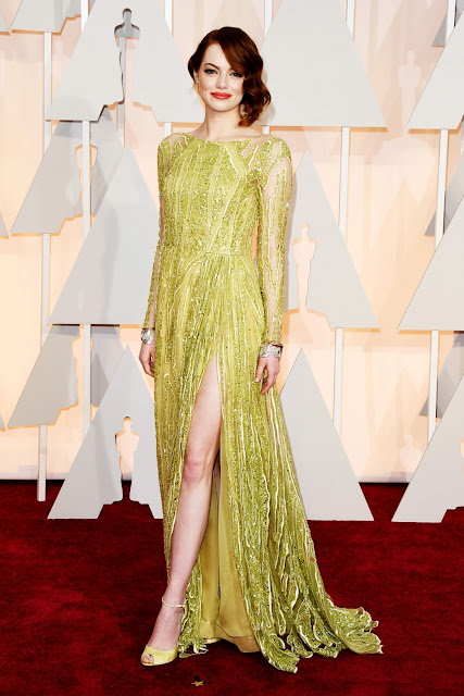Emma Stone in Elie Saab for Oscars Academy Awards 2015