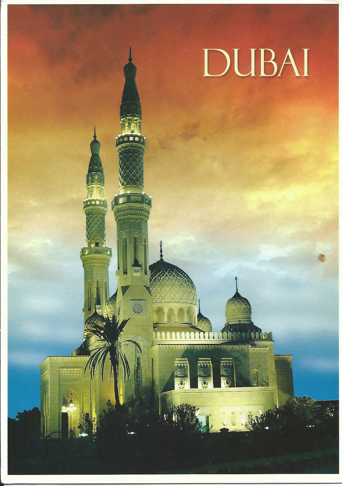 MY POSTCARD-PAGE: UAE ~ The Jumeirah Mosque - Dubai