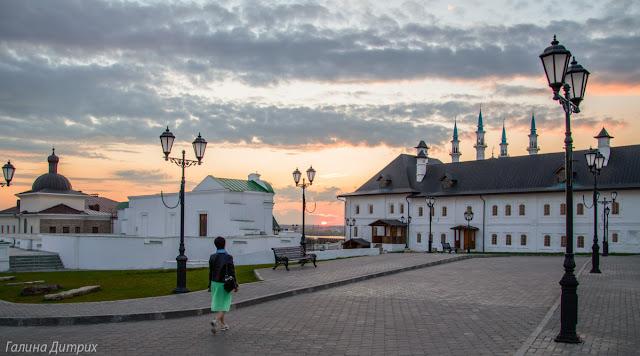 Казанский Кремль закат