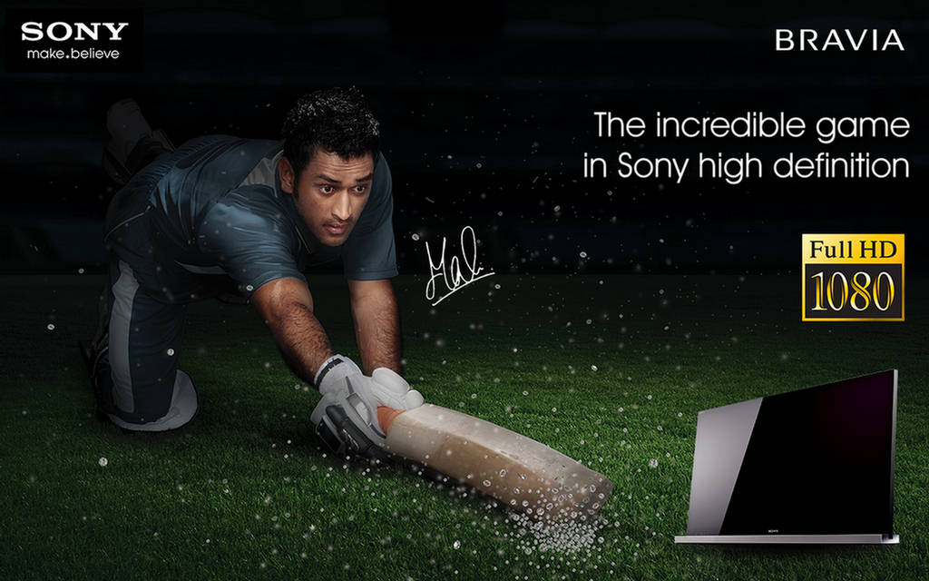 Dhoni Sony Bravia Wallpapers