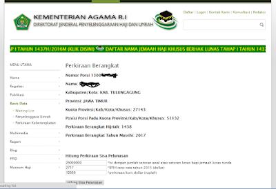 Hasil Cara Cek Status Perkiraan Berangkat Haji - Hermanbagus- Photoshop